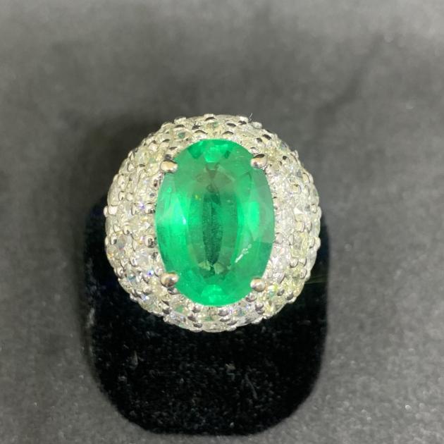 7.87克拉天然祖母綠鑽戒(附證書) 1