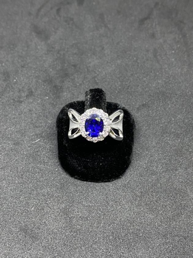 藍寶K金戒指 1