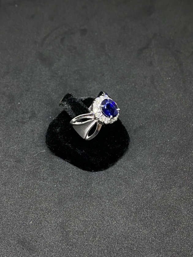 藍寶K金戒指 3